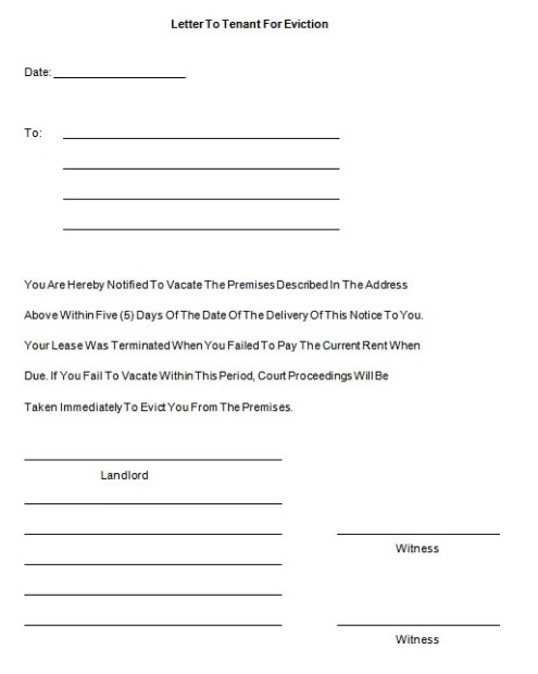 template tenant, writing formal, tennant california, free printable, sample pdf, on 30 day notice sample letter to landlord template