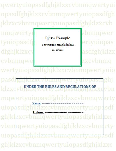 Ngo Bylaws Template Free Word Templates