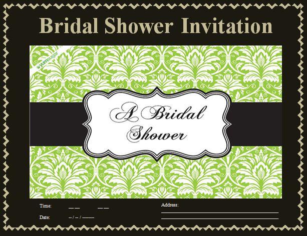 bridal shower invitation templates free printable word. Black Bedroom Furniture Sets. Home Design Ideas