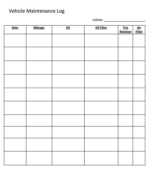 Maintenance Schedule Template Free Word Templates