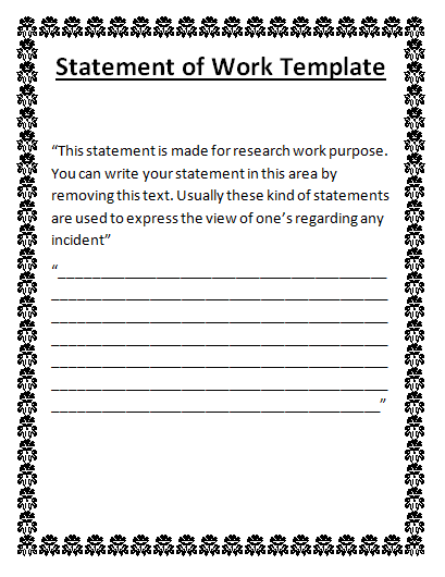 Statement Of Work Word Template from www.wordstemplates.org