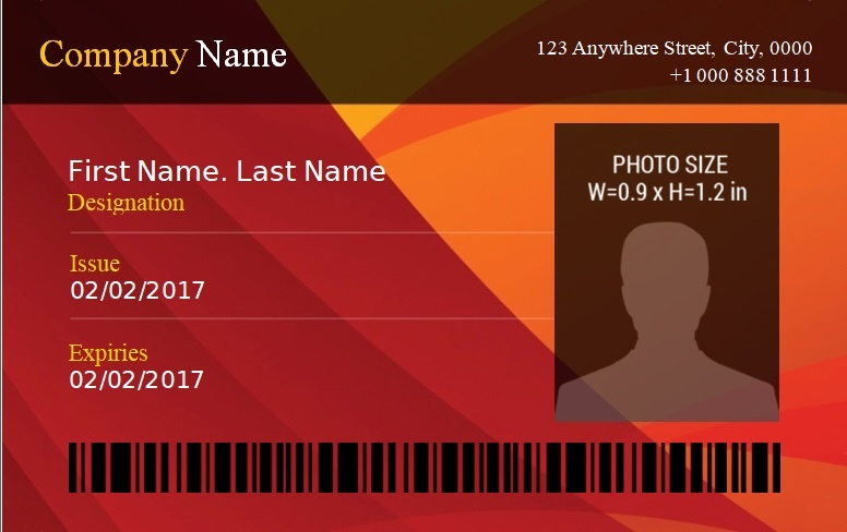 Id Badge Template 14 Free Printable Word Pdf Excel Formats Samples Examples