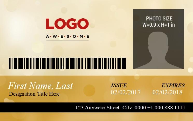 ID Badge Template 3