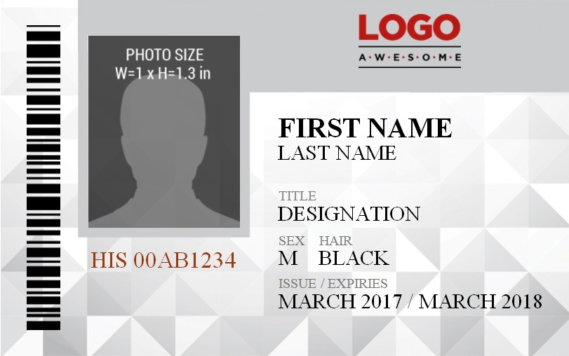 vertical id badge template
