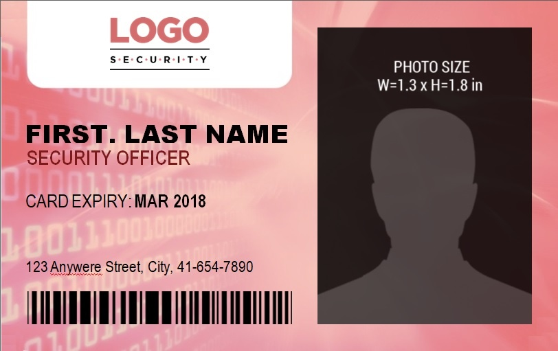 ID Badge Template 9