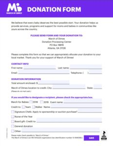 Donation Form | Free Word Templates