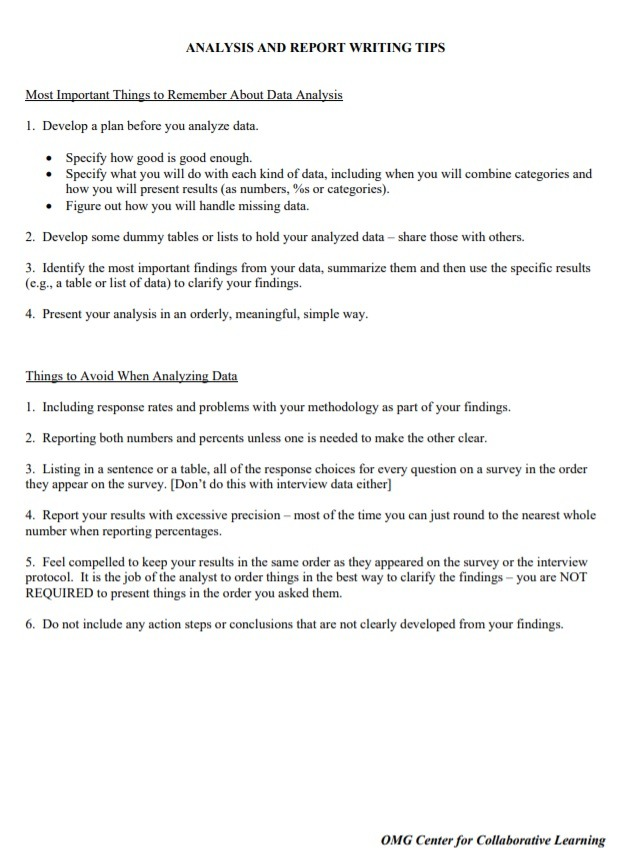 Report Writing Template from www.wordstemplates.org