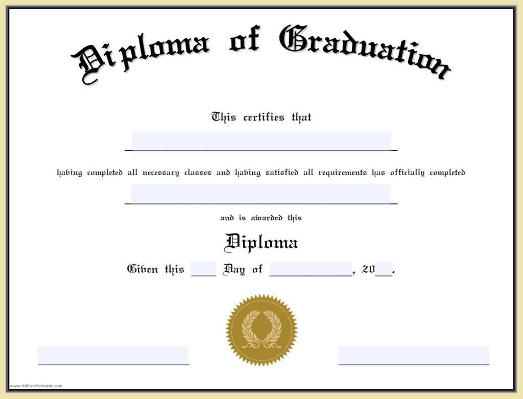 Graduate Certificate Template  Free Word Templates In Graduation Certificate Template Word